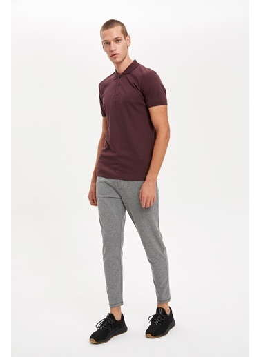 Defacto –Fit Polo Yaka Slim Fit Tişört Bordo